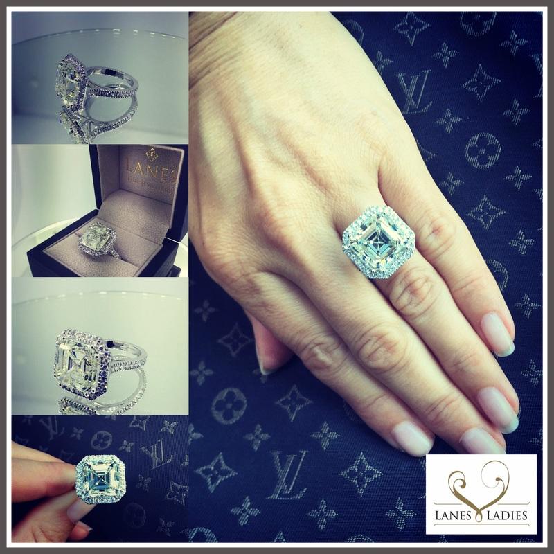 10 Carat Asscher Cut Diamond Ring