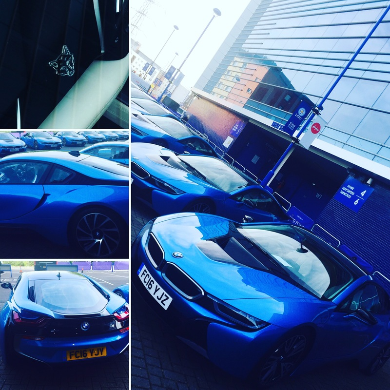 BMW i8s for LCFC footballers with Silver Fox By Lanes