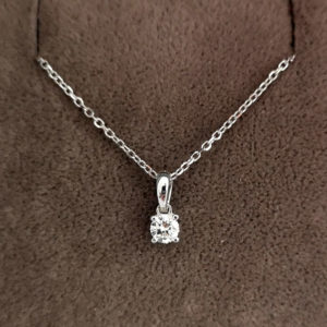 0.13 Carat Diamond Pendant & Chain