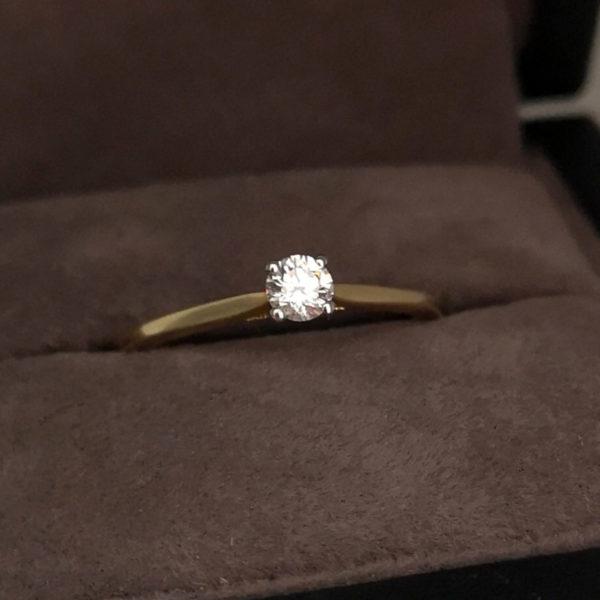 0.20 Carat Round Brilliant Cut Diamond Solitaire Ring