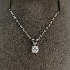 0.24 Carat Diamond Pendant & Chain