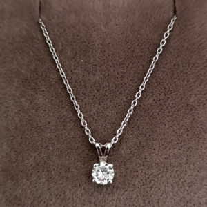 0.29 Carat Diamond Pendant & Chain