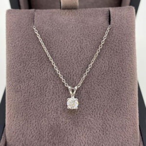 0.32 Carat Diamond Pendant & Chain