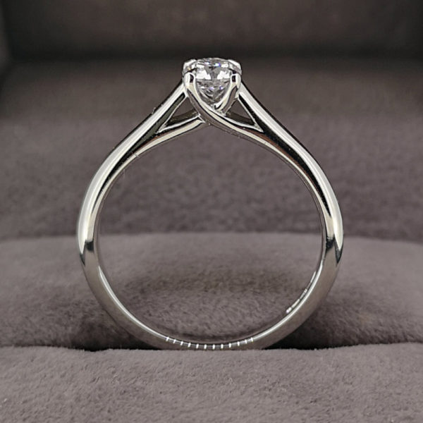 0.34 Carat Round Brilliant Cut Diamond Solitaire Ring