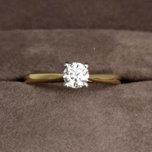 0.35 Carat Round Brilliant Cut Diamond Solitaire Ring