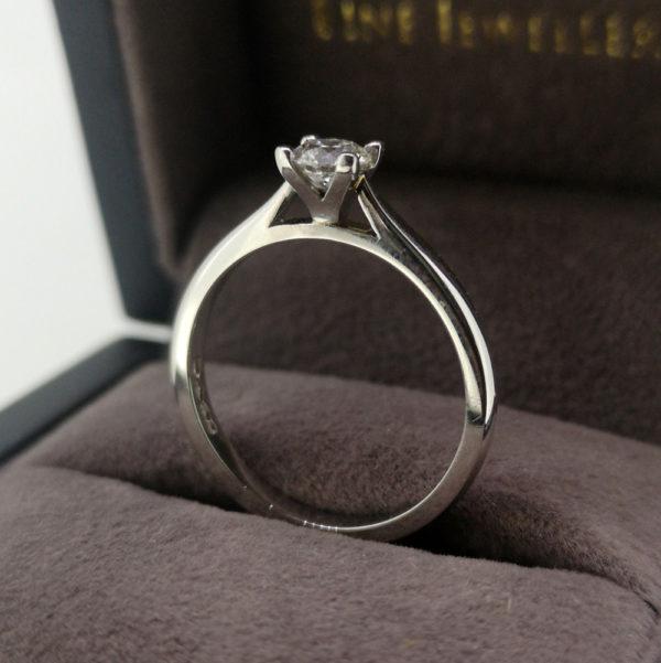 0.40 Carat 'Tulip' Round Brilliant Cut Diamond Solitaire Ring in Platinum