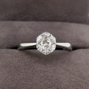 0.47 Carat Diamond Oval & Marquise Cluster Ring