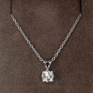 0.47 Carat Diamond Pendant & Chain