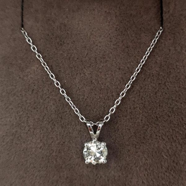 0.47 Carat Diamond Pendant & Chain