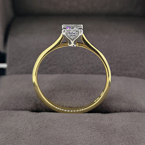 0.48 Carat Princess Cut Diamond Solitaire Ring
