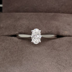 0.50 Carat Oval Cut Diamond Solitaire Ring