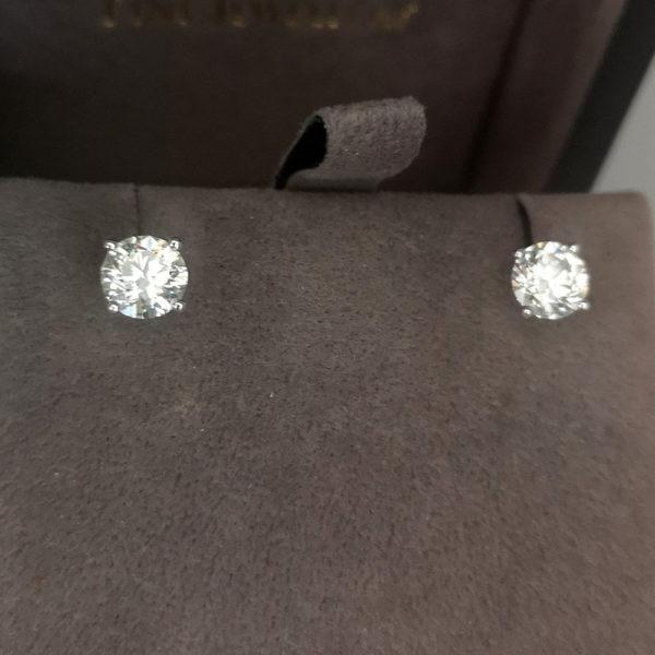 1.60 Carat Diamond Stud Earrings