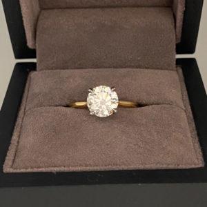 1.72 Carat Round Brilliant Cut Diamond Ring