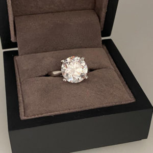 5.18 Carat Round Brilliant Cut Diamond Ring