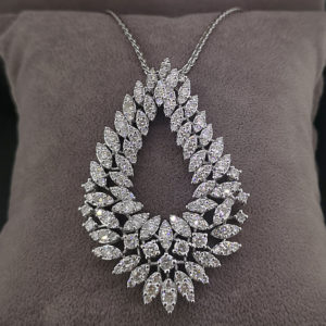 5.25 Carat Fancy Diamond Pendant & Spiga Chain