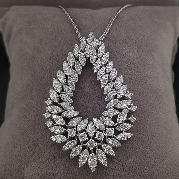 5.25 Carat Fancy Diamond Pendant & Spiga Chain