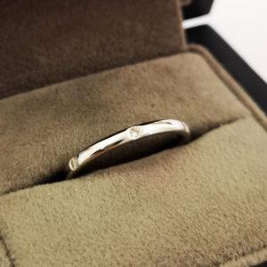0.11 Carat Platinum Diamond Dot Wedding Band