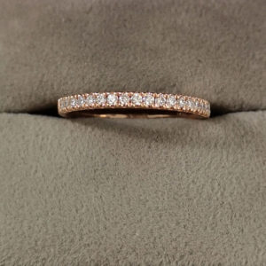 0.20 Carat Claw Set Diamond Eternity Ring in Rose Gold
