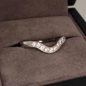 0.20 Carat Mil-Grain Shaped Diamond Wedding Ring