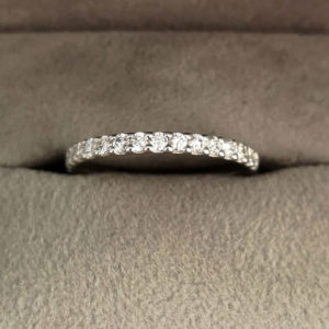 0.34 Carat Claw Set Diamond Eternity Ring in Platinum