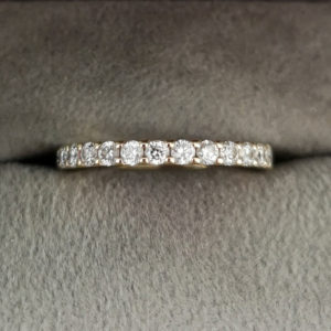 0.53 Carat Claw Set Diamond Eternity Ring in Yellow Gold