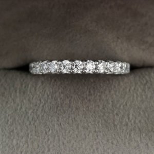 0.59 Carat 'Fish-Grain' Diamond Eternity Ring in Platinum