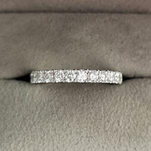 0.72 Carat Claw Set Diamond Eternity Ring in Platinum