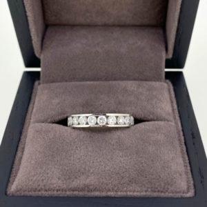 0.75 Carat Platinum Channel Set Diamond Eternity Ring
