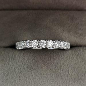 0.79 Carat 'Fish-grain' Set Diamond Eternity Ring in Platinum