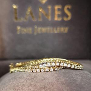 1.00 Carat Diamond Line Bracelet (Yellow Gold)