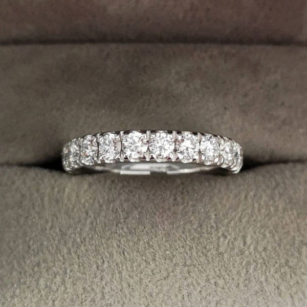 1.06 Carat Claw Set Diamond Eternity Ring in Platinum