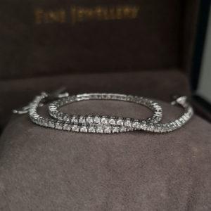 1.50 Carat Diamond Line White Gold Bracelet