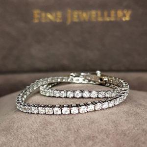 2.15 Carat Diamond Line Bracelet White Gold