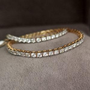 2.40 Carat Diamond Line Yellow Gold Bracelet - Made to Order