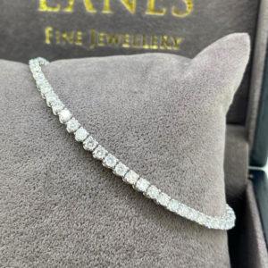 3.59 Carat Diamond Line White Gold Bracelet