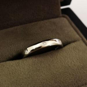 3mm Platinum Diamond Dot Wedding Band