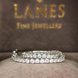 4.10 Carat Diamond Line White Gold Bracelet