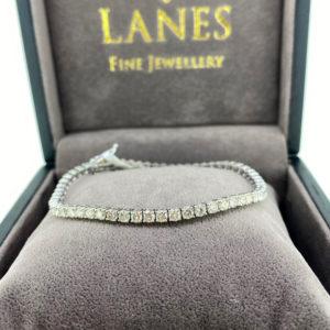 5.90 Carat Diamond Line White Gold Bracelet
