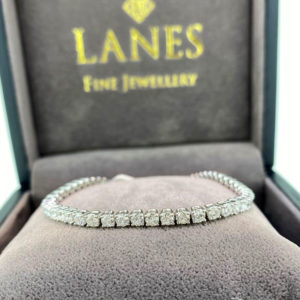 6.05 Carat Diamond Line White Gold Bracelet